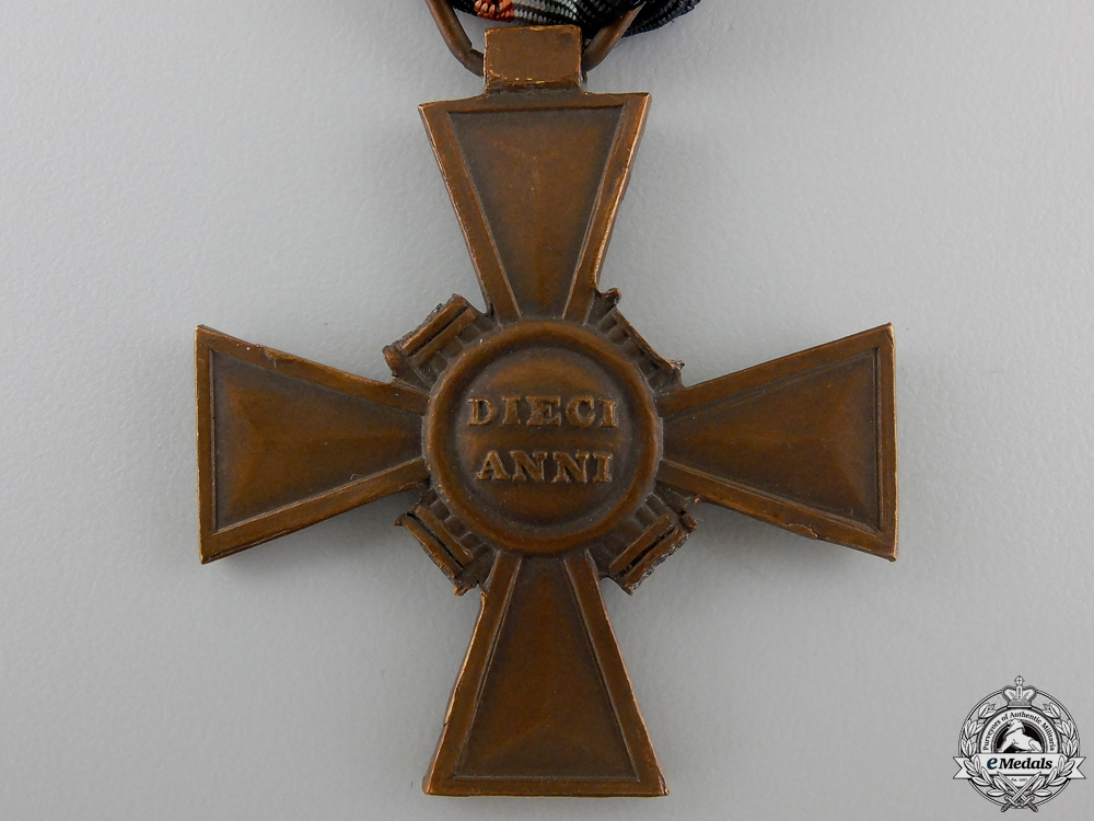 An Italian Blackshirts Voluntary Militia 10 Year Service Cross