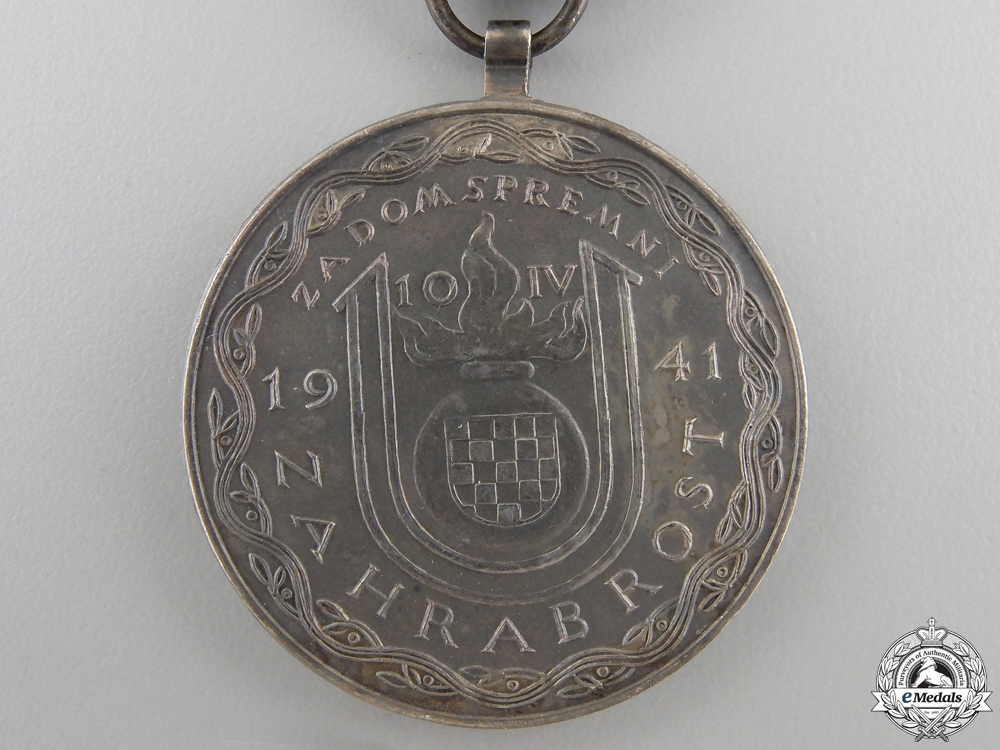 A Croatian A. Pavelic Silver Bravery Medal