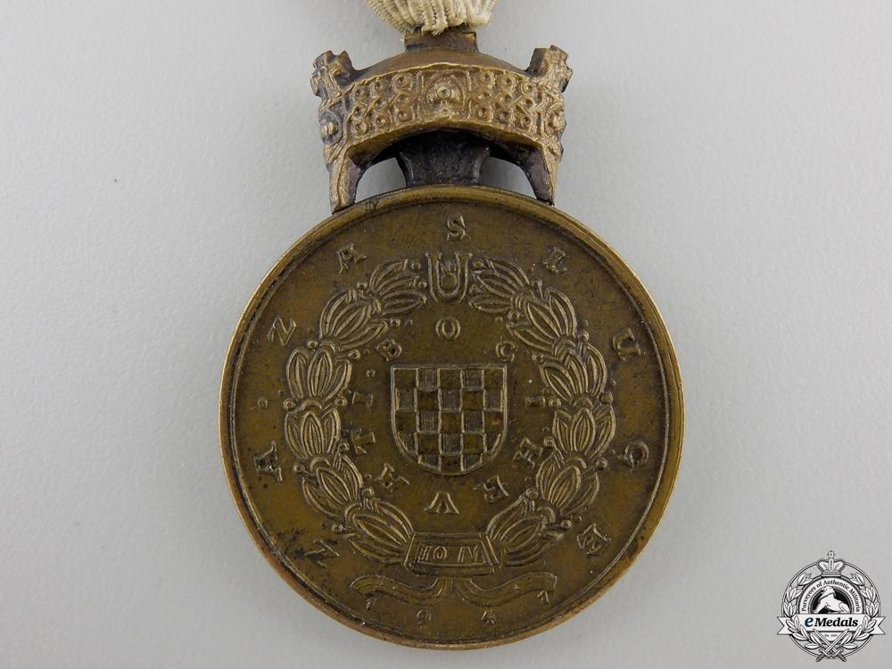 A Second War Croatian King Zvonimir Merit Medal; Bronze Grade