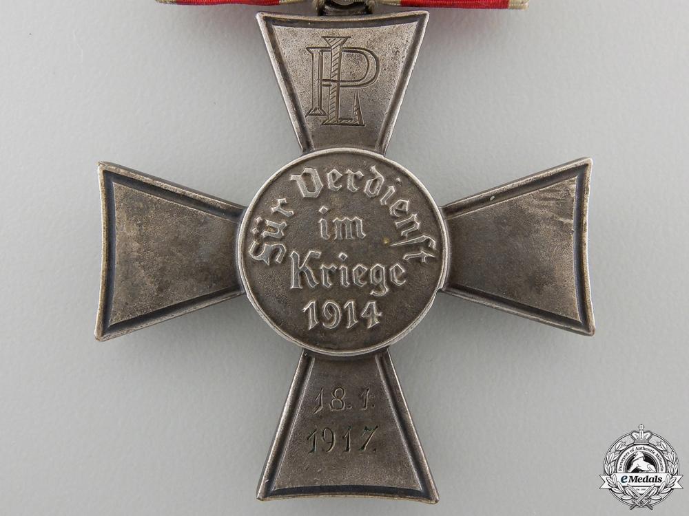 A Hamburg Hanseaten Cross; Named & Dated 1917