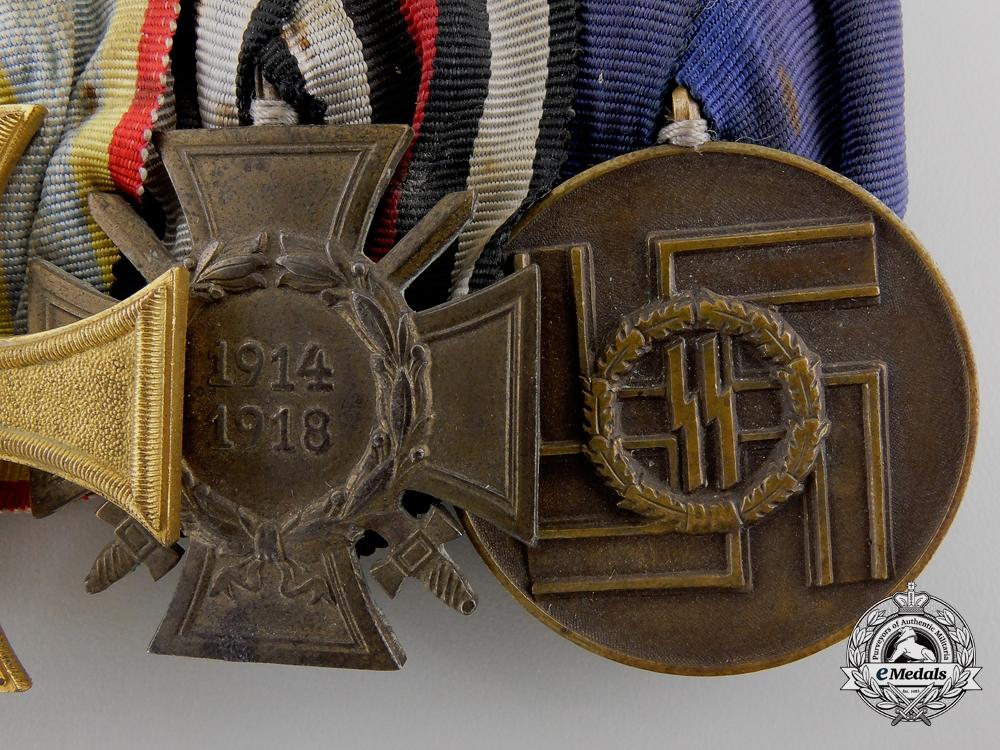 A First War & SS Long Service Medal Bar