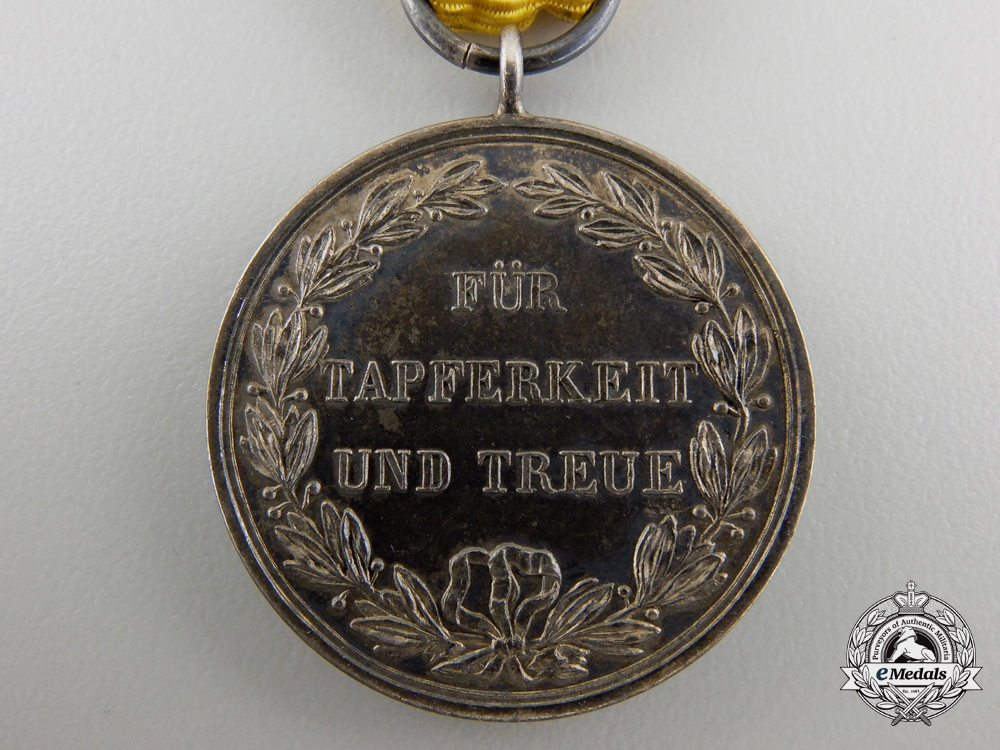 A Wurttemberg Military Merit Medal; Silver Grade