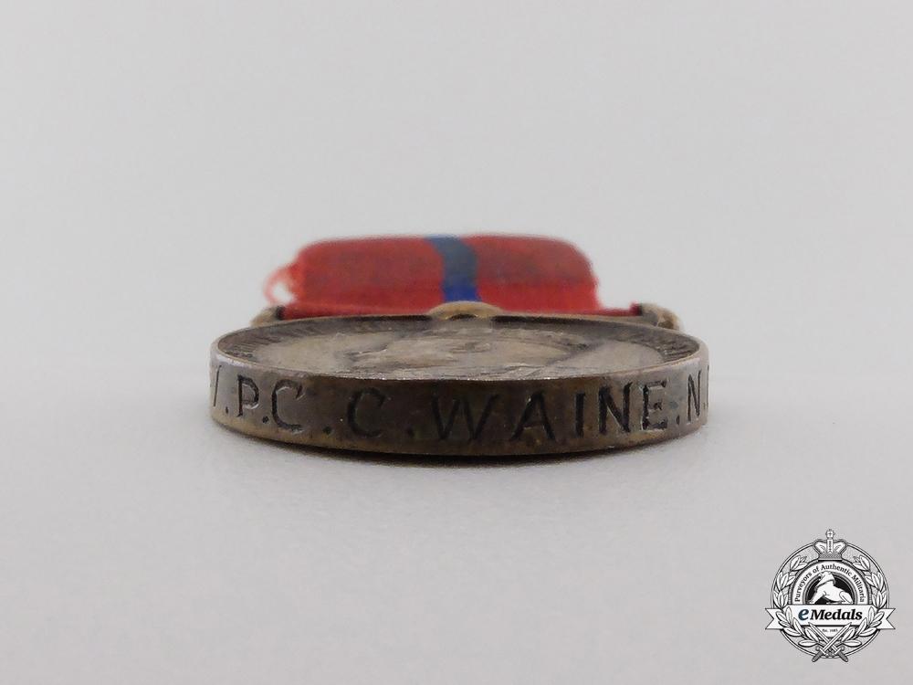 A Miniature Coronation (Police) Medal 1902; Named
