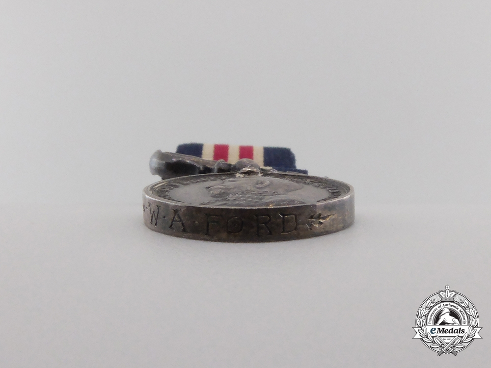A Miniature First War Military Medal to W.A.Ford
