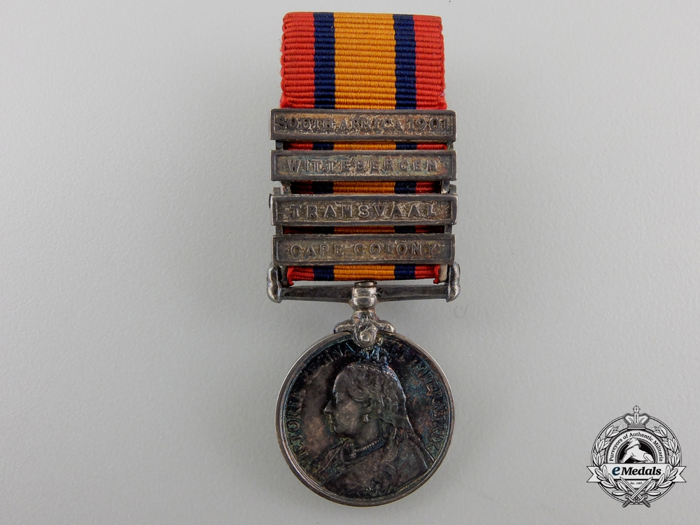 A Miniature Queen's South Africa Medal with Case