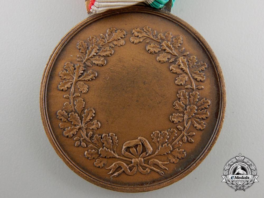 An Italian Medal for Civil Valour; Bronze Grade