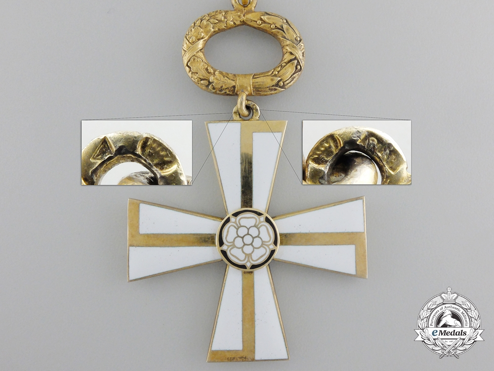 A 1941 Finnish Order of the Cross of Liberty; 1st Class