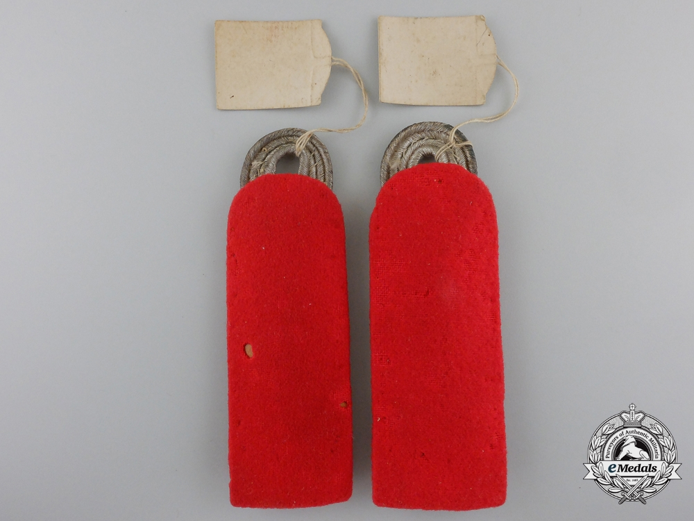 A Shoulder Boards Pair to Wehrmacht Army Artillery Major