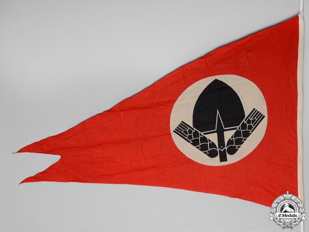 An RAD (Reichsarbeitsdienst) Dual-Point Pennant