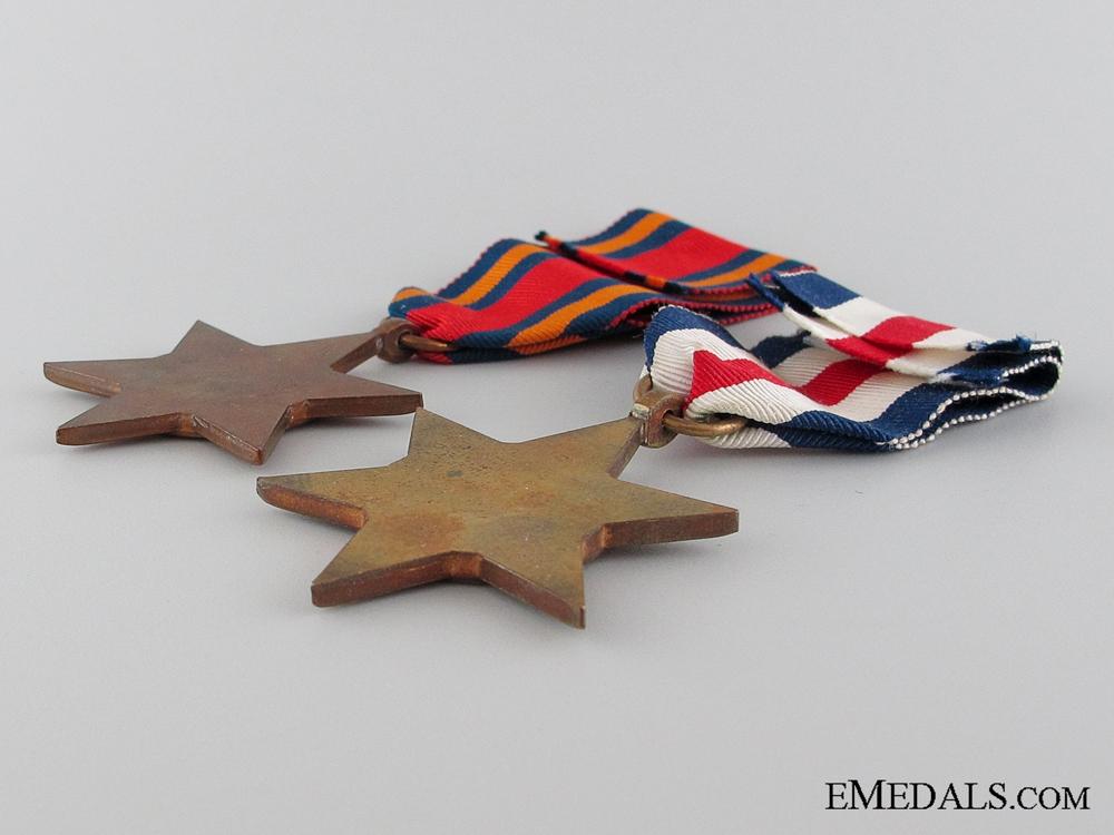 Two British Second War Stars