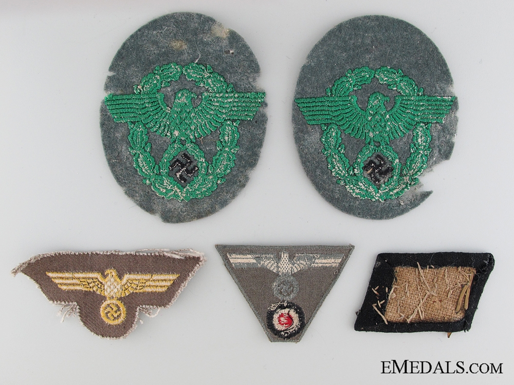 Five Pieces of WWII German Insignia