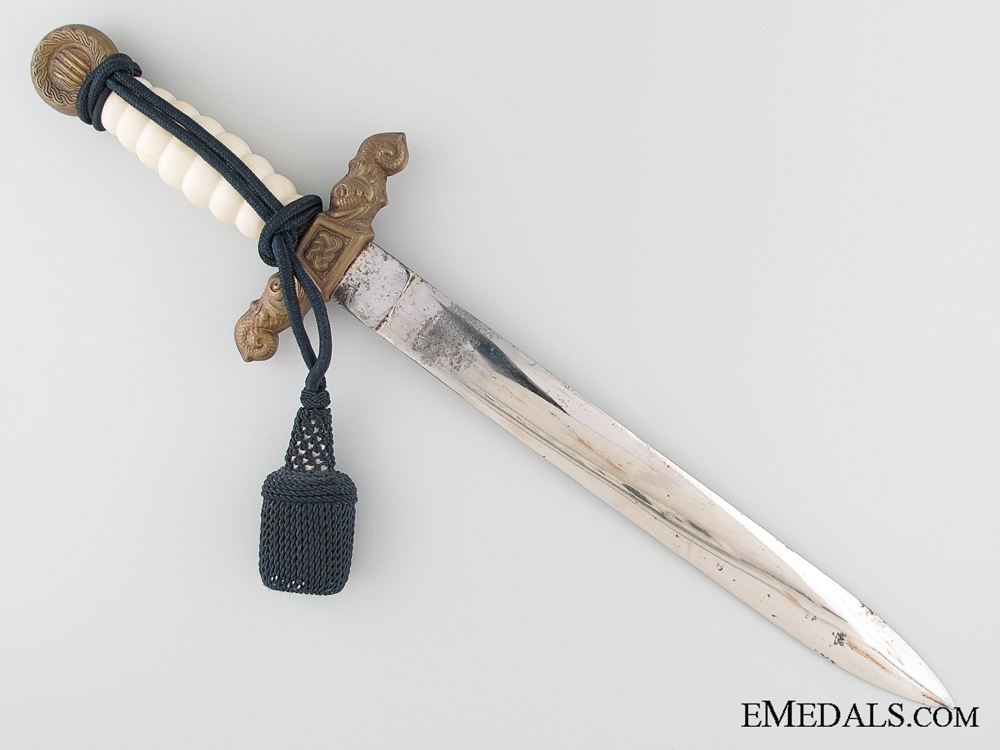 A Scarce Croatian Naval Dagger with Hangers