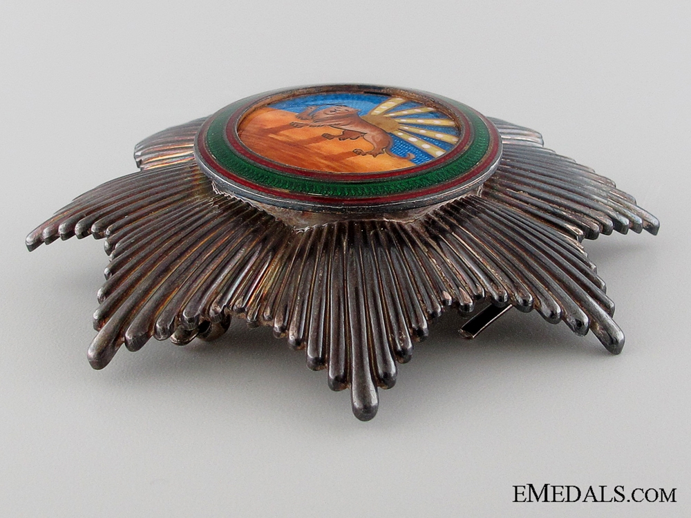 An Iranian Order of Homayoun; 1st Class Breast Star