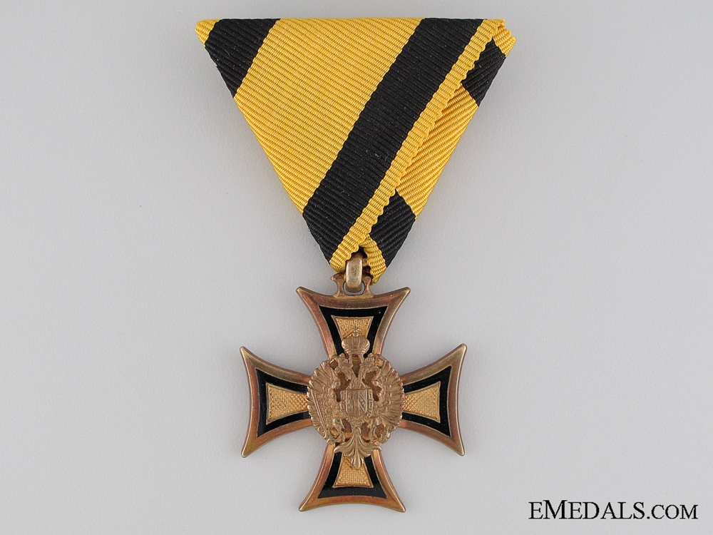 A Cased Austrian Long Service Cross; 2nd Class