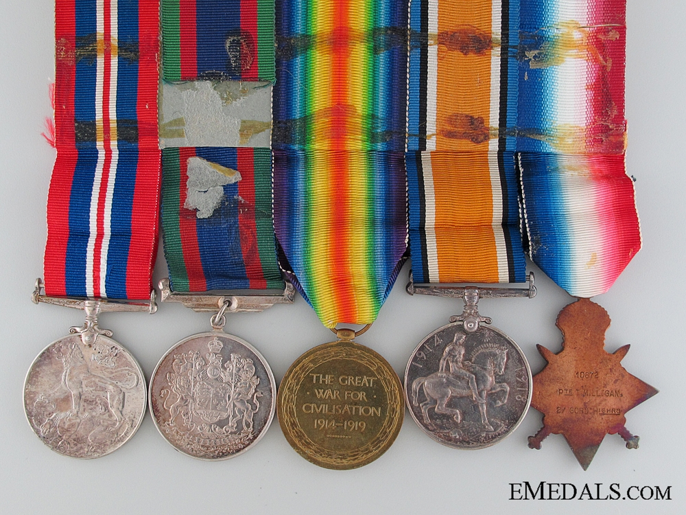 A 1914 Mons Star Group to the Gordon Highlanders