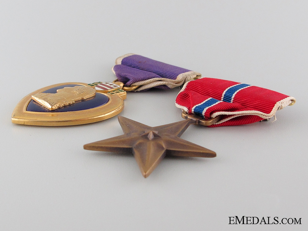A WWII Bronze Star with Documents to Major Standart 13th AAF