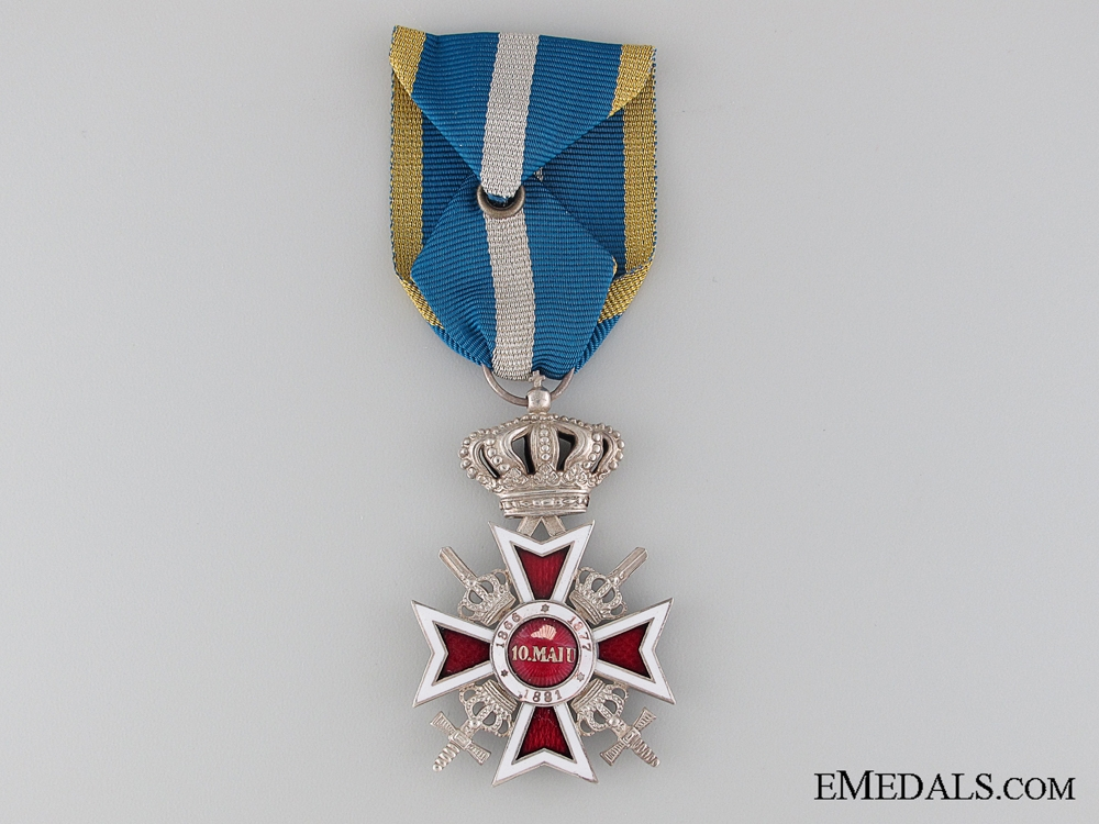 The Order of the Crown of Romania with Swords; Silver Grade