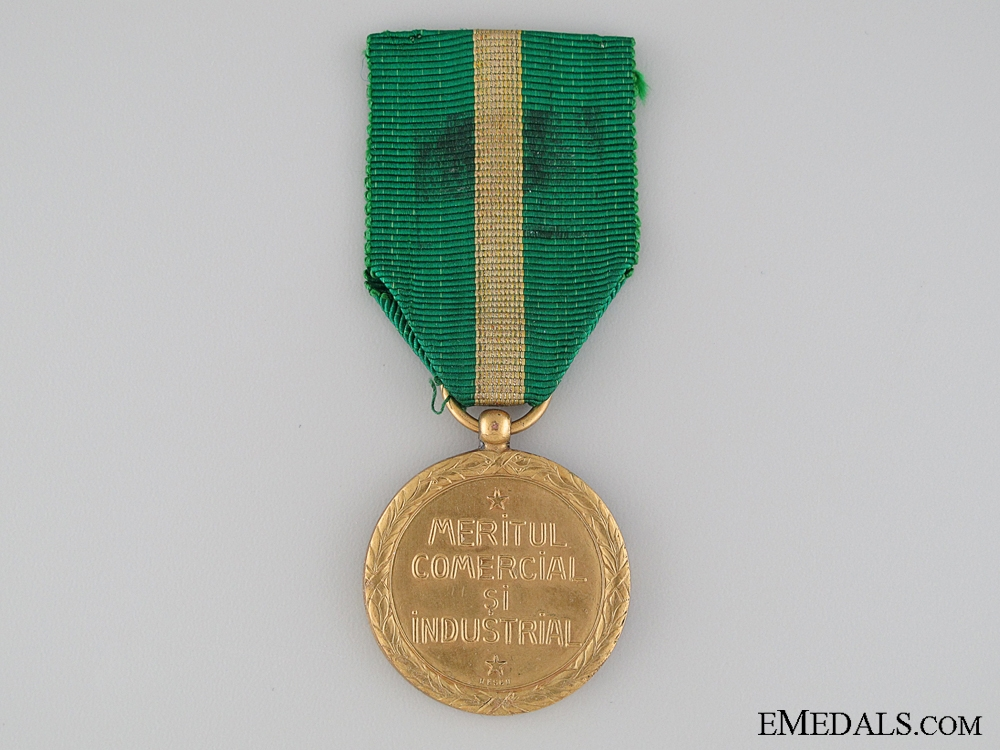 Medal for Industrial and Commercial Merit; Gold Grade