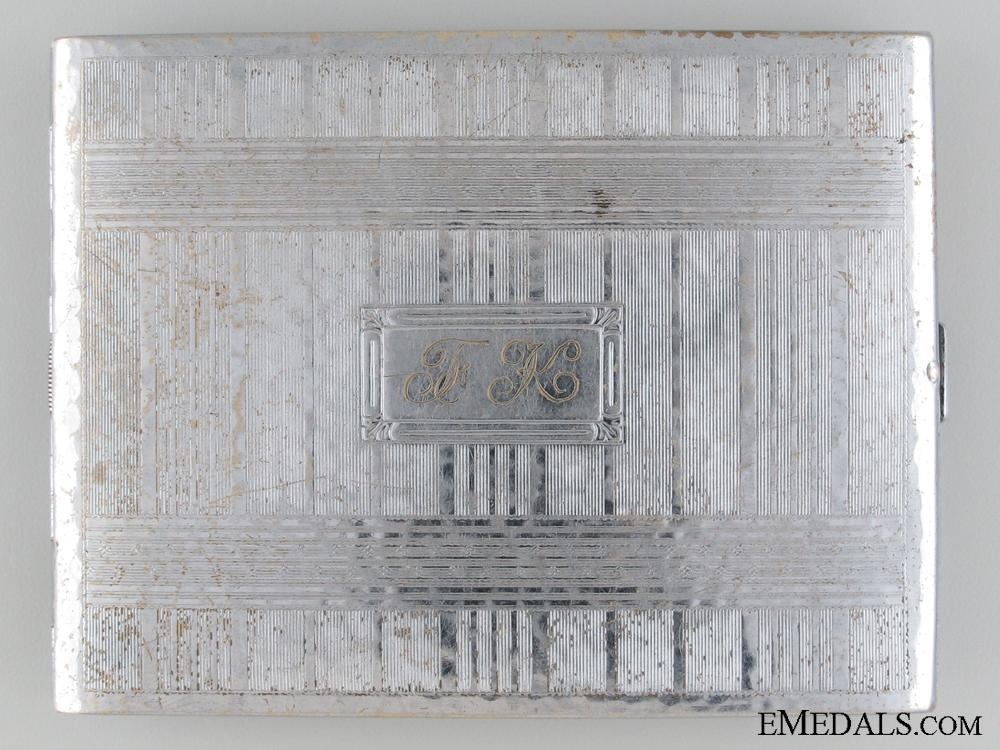 Korean War MBE Recipient's Cigarette Case; Defense of Hill 355