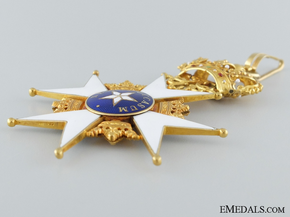 Swedish Order of the North Star in Gold; Cased