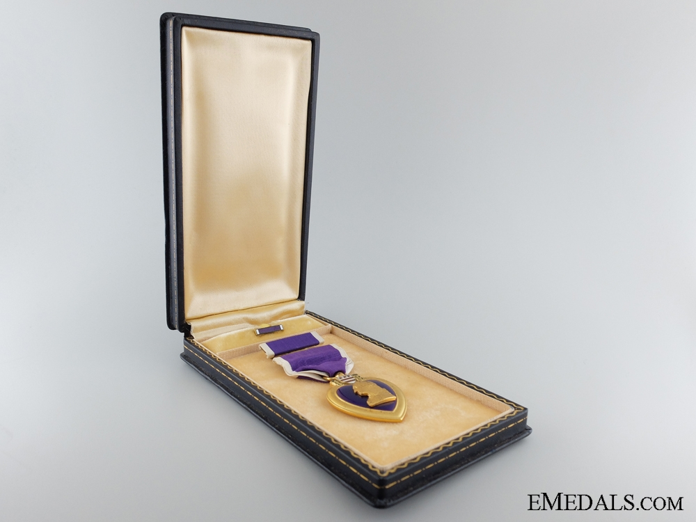 WWII Purple Heart to Private William Brewer; Army Air Force POW