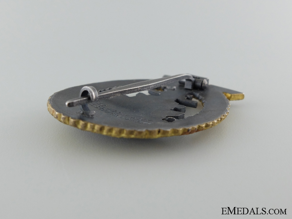 A Mint High Seas Fleet Badge by Adolf Bock Ausf. Schwerin