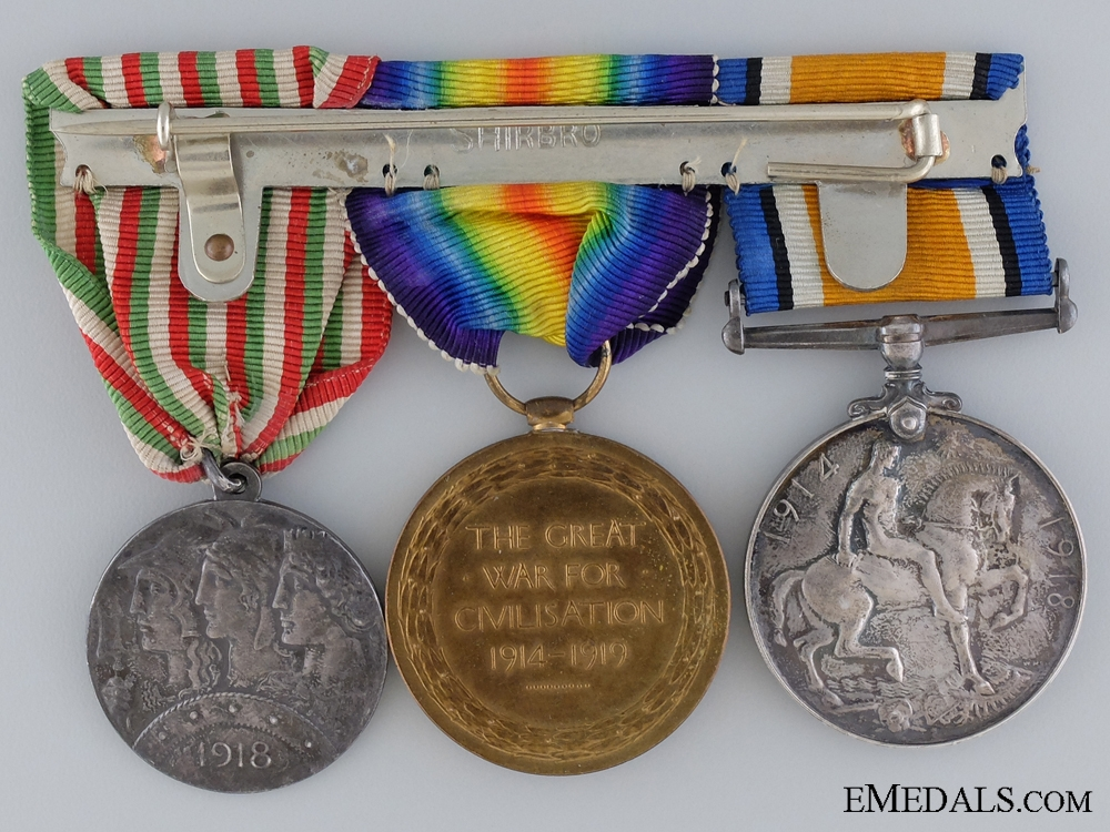 A R.F.C. Medal Group to Canadian Lieut. Wounded at Piave 1917