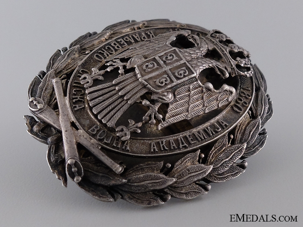 A Serbian Military Academy Badge; Russian Made