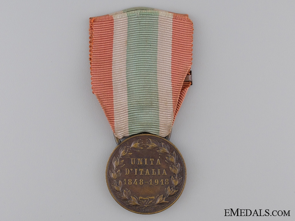 1848-1918 United Italy Medal with 1918 Clasp