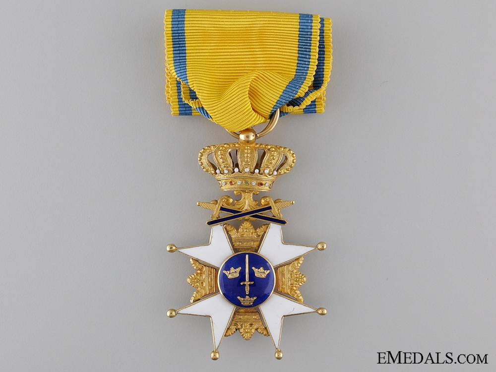 A Swedish Order of the Sword in Gold; Knight's First Class
