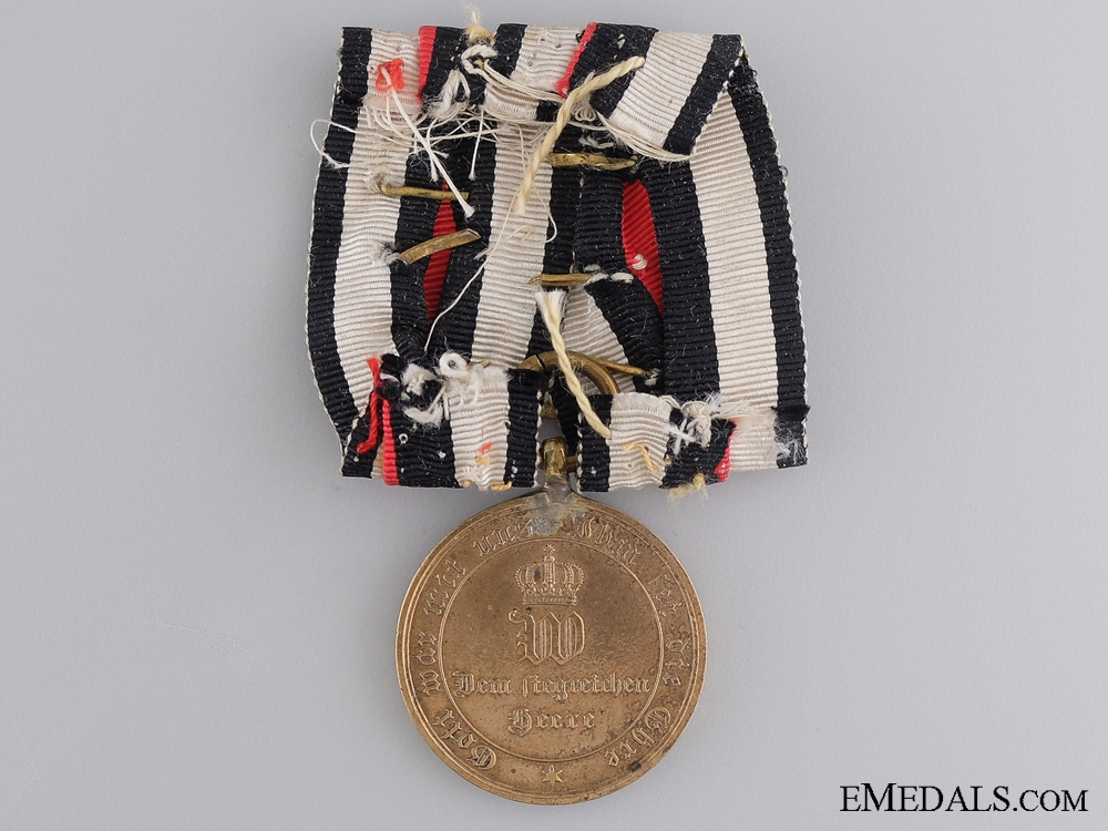 A 1870-1871 German War Merit Medal with Four Clasps