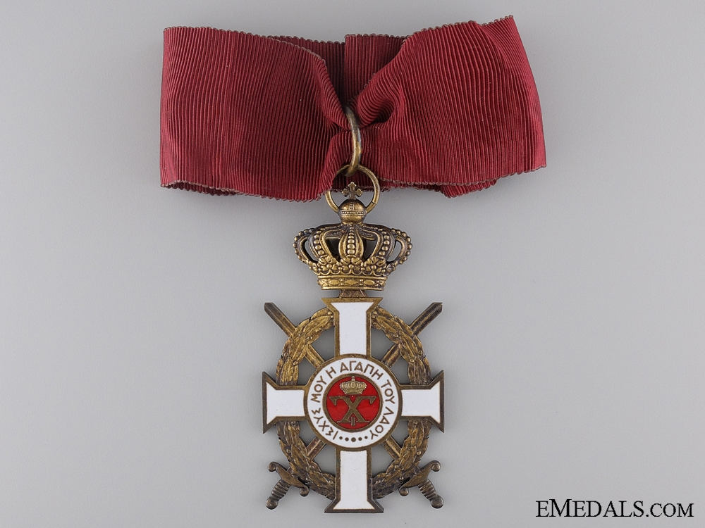 The Royal Greek Order of George I; 3rd Class with Case by Kelaidis, Athens