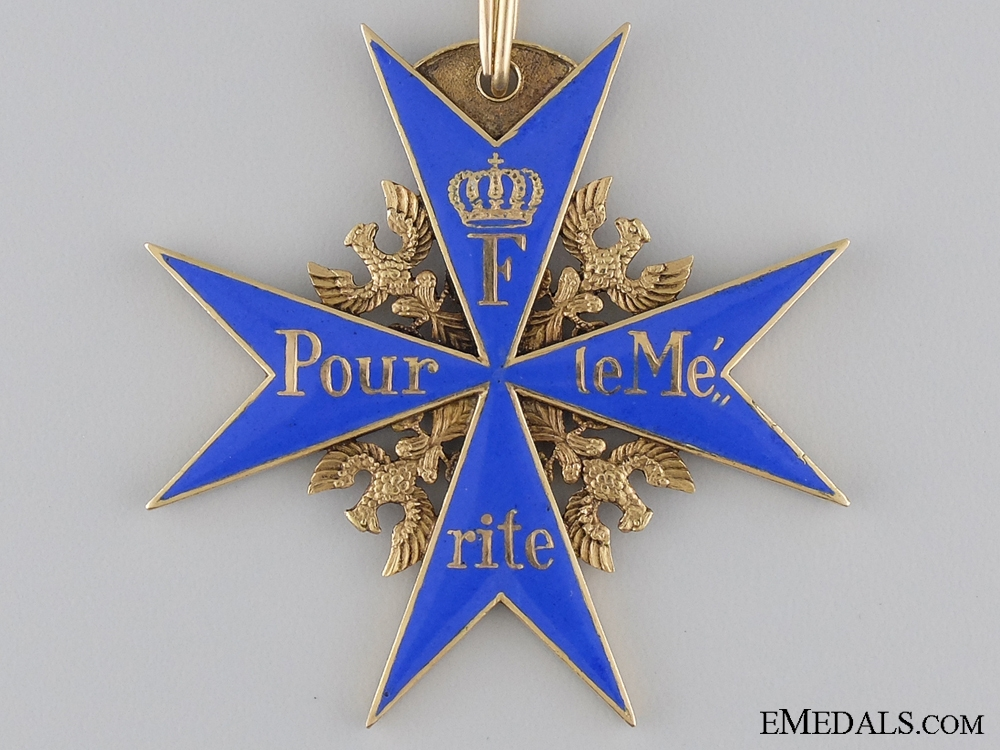 An 1870 Period Pour-le-Merite in Gold by Wagner