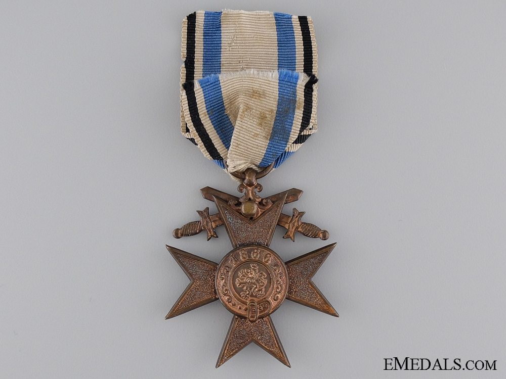 A Bavarian Military Merit Cross with Swords