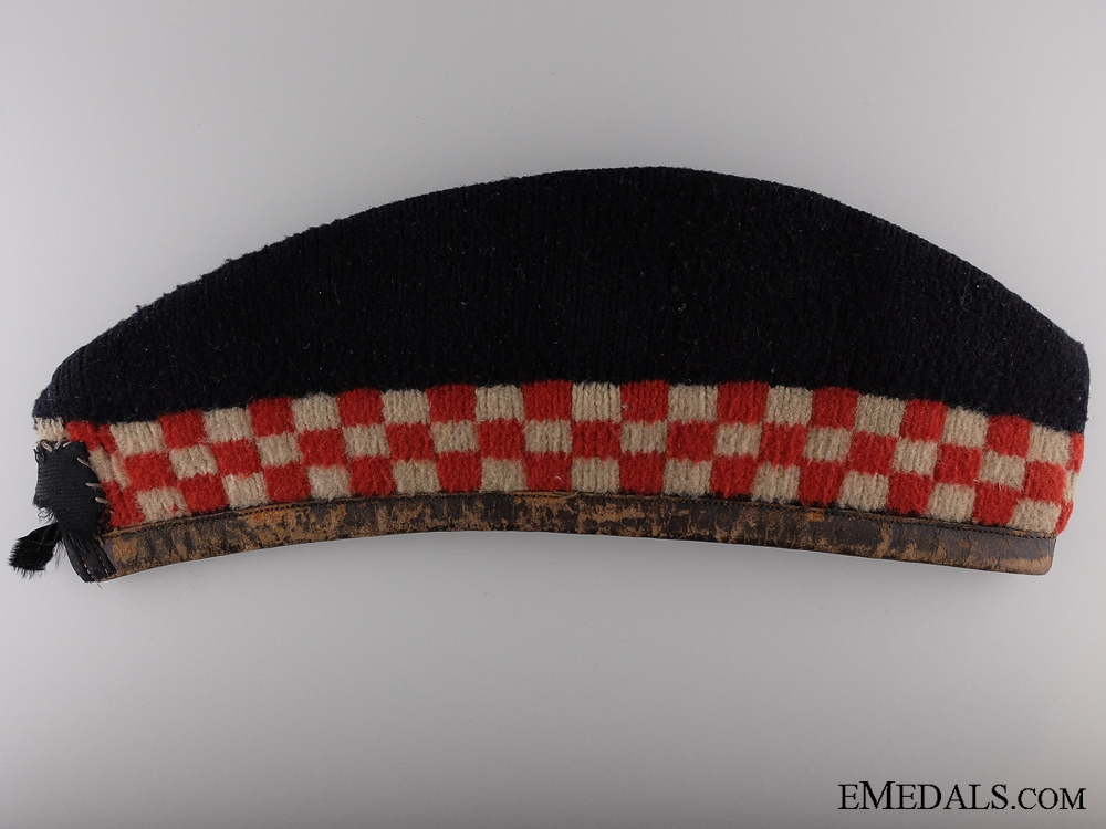 A First War Argyll and Sutherland Highlanders Glengarry Cap