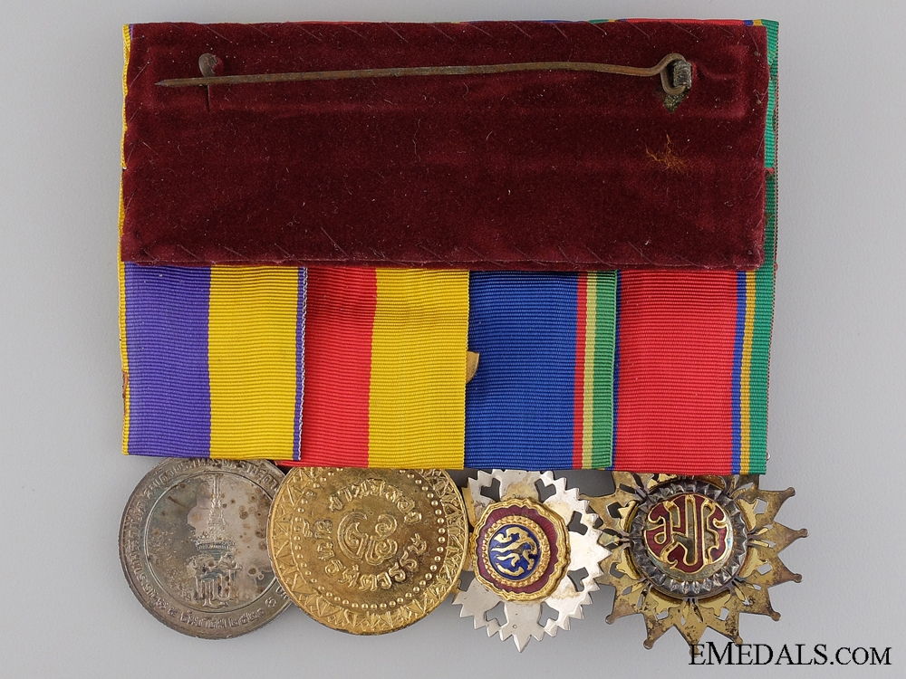 A Thai Order of the White Elephant Medal Bar