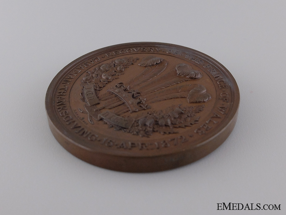 A 1872 Recovery of the Prince of Wales Medal