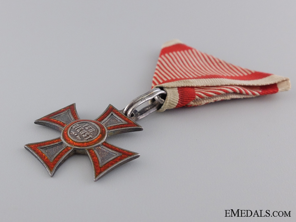 A Very Scarce Austrian Military Merit Cross; Type I