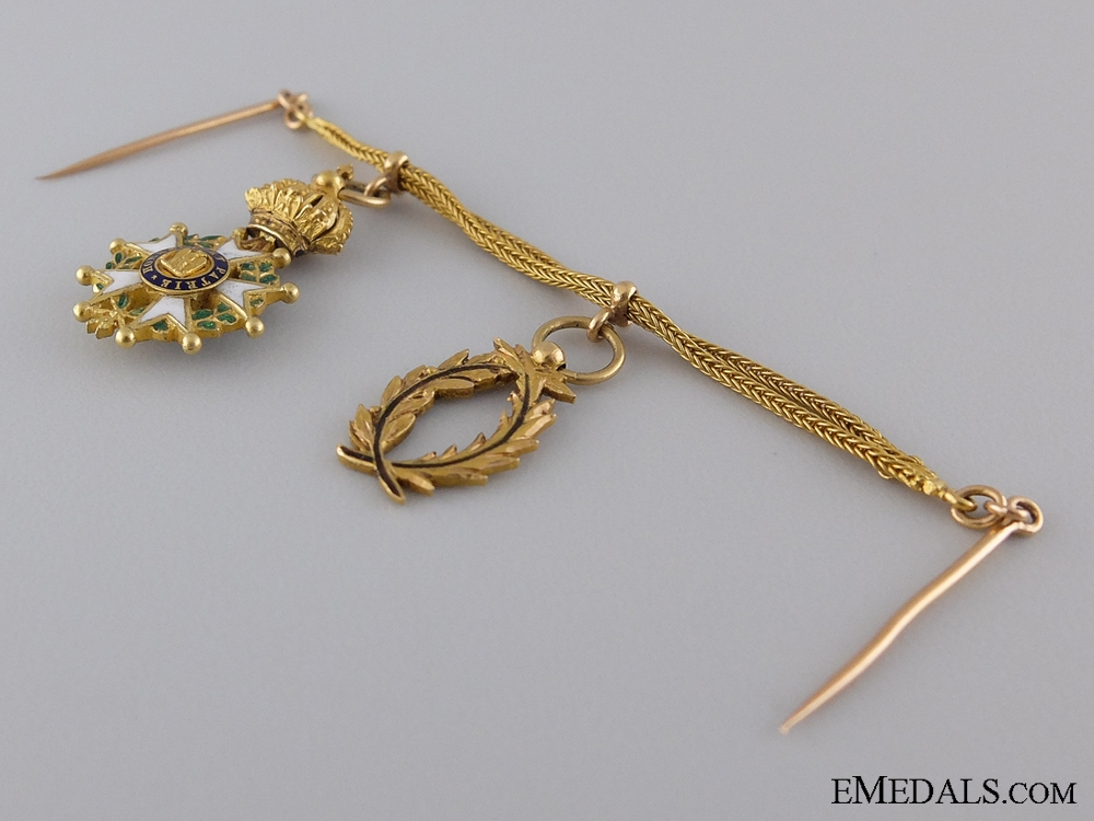 An Exqusite French Miniature Pairing in Gold; c.1830