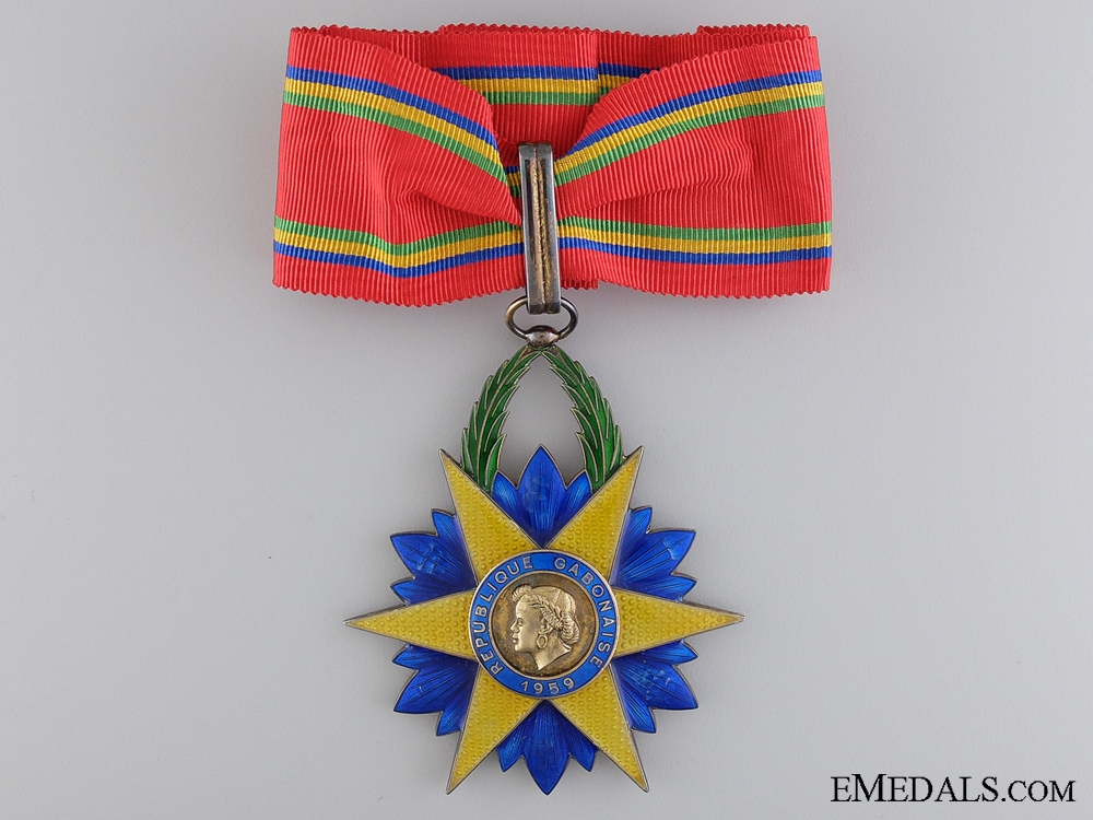 A French Made Gabonese Order of the Equatorial Star; Commander