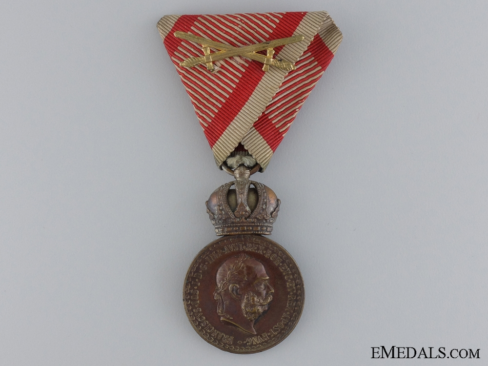 A Cased Austrian Military Merit Medal by Rothe; Air Force ...