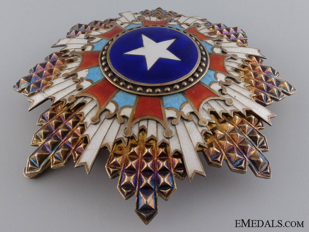 A Chinese Order of the Brilliant Star; 3rd Class Breast Star