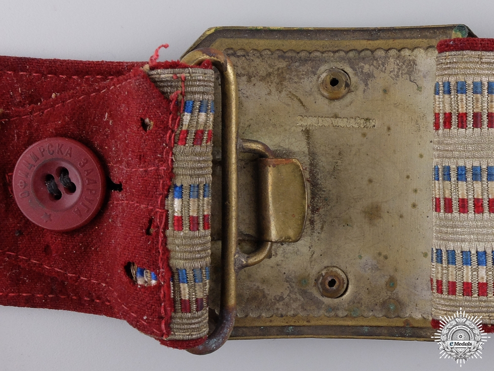 A Royal Yugoslavian Officer's Belt and Buckle by Sorlini Varazdin