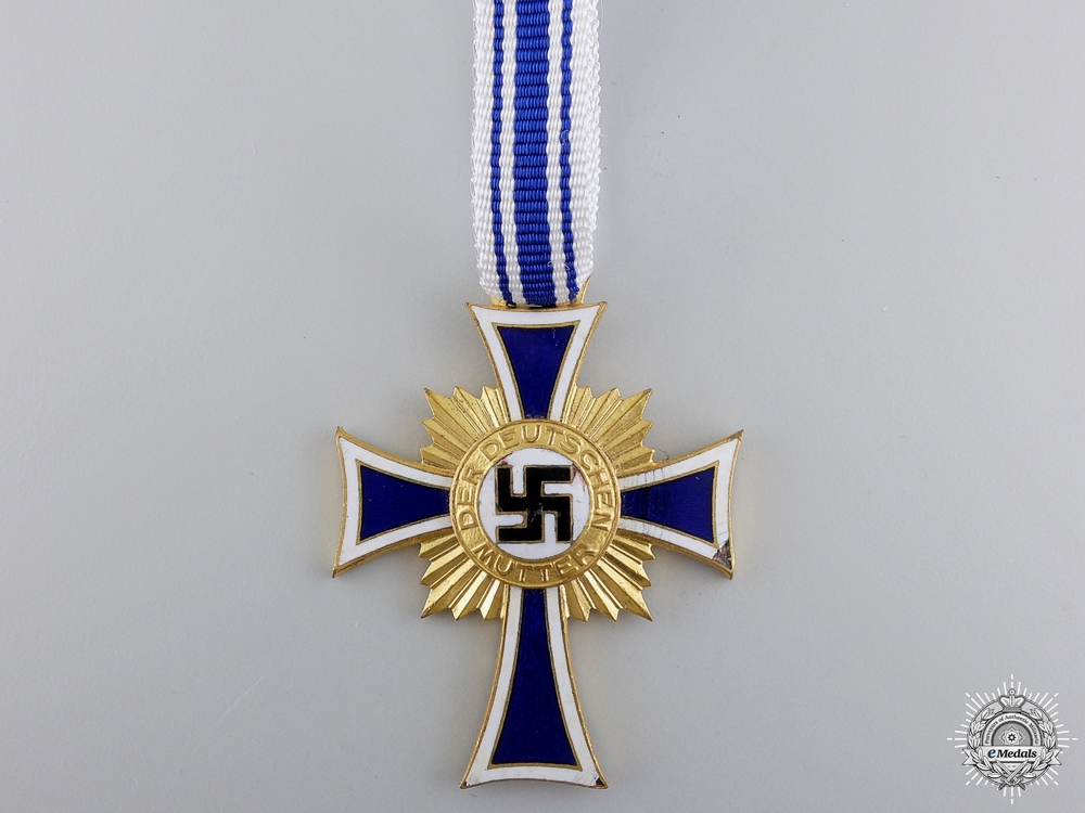A German Mother's Cross; Gold Grade with Case