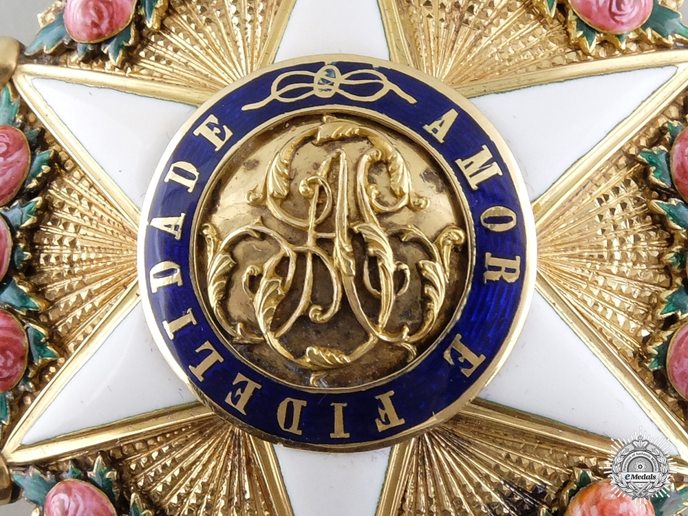 An Exquisite Brazilian Order of the Rose in Gold; Breast Star