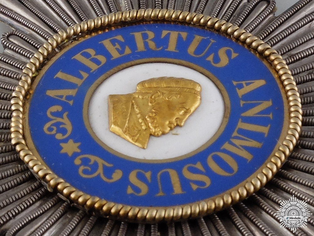 A Saxon Order of Albert; Grand Cross Star in Bullion
