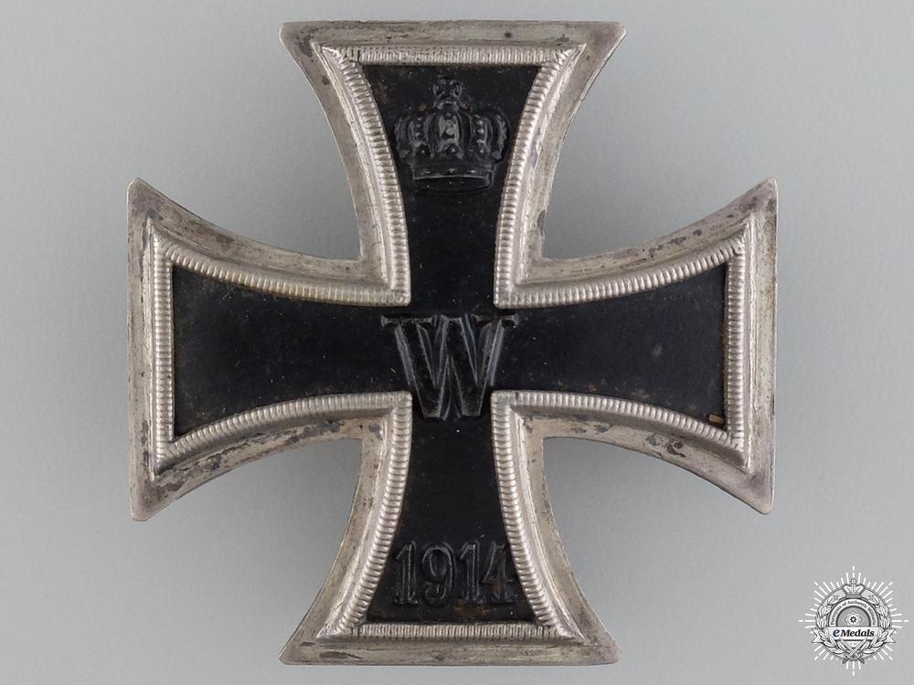 A First War Iron Cross First Class 1914; 800 Silver with Case