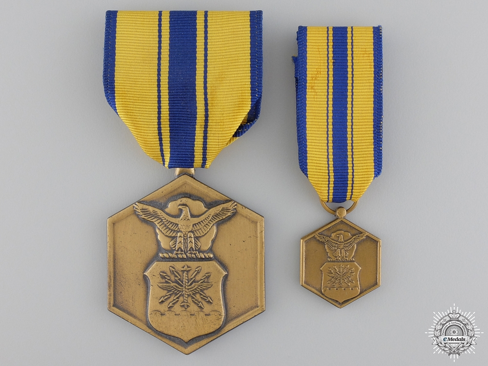 Two American Cased Merit Medals
