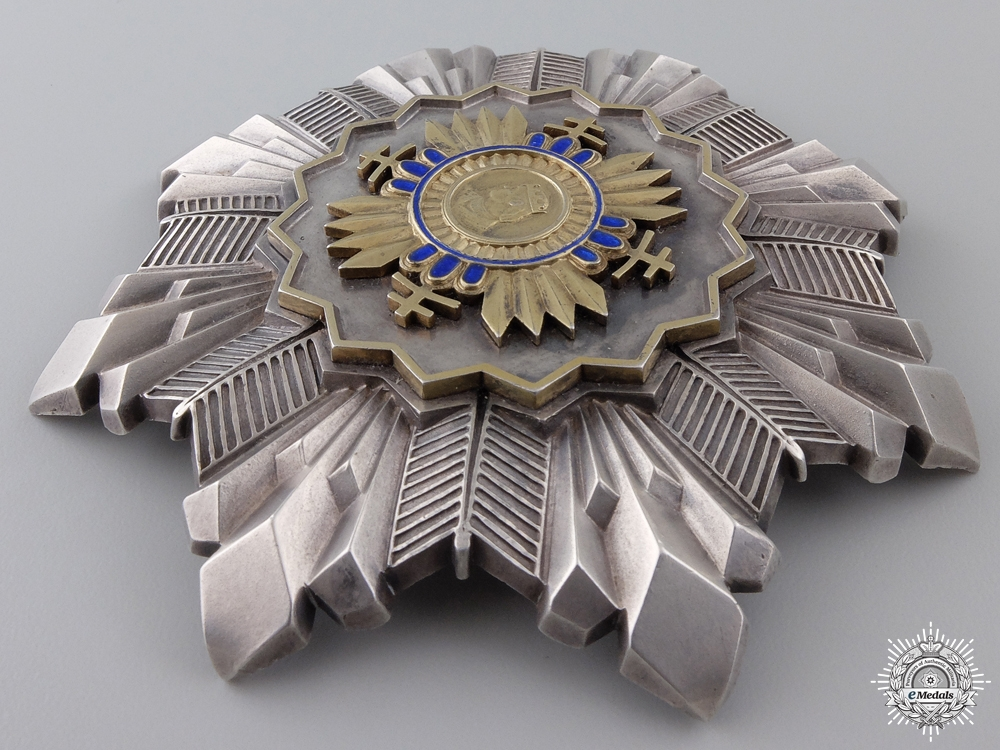 An Extremely Rare Slovakian Order of Prince Pribina; Grand Cross