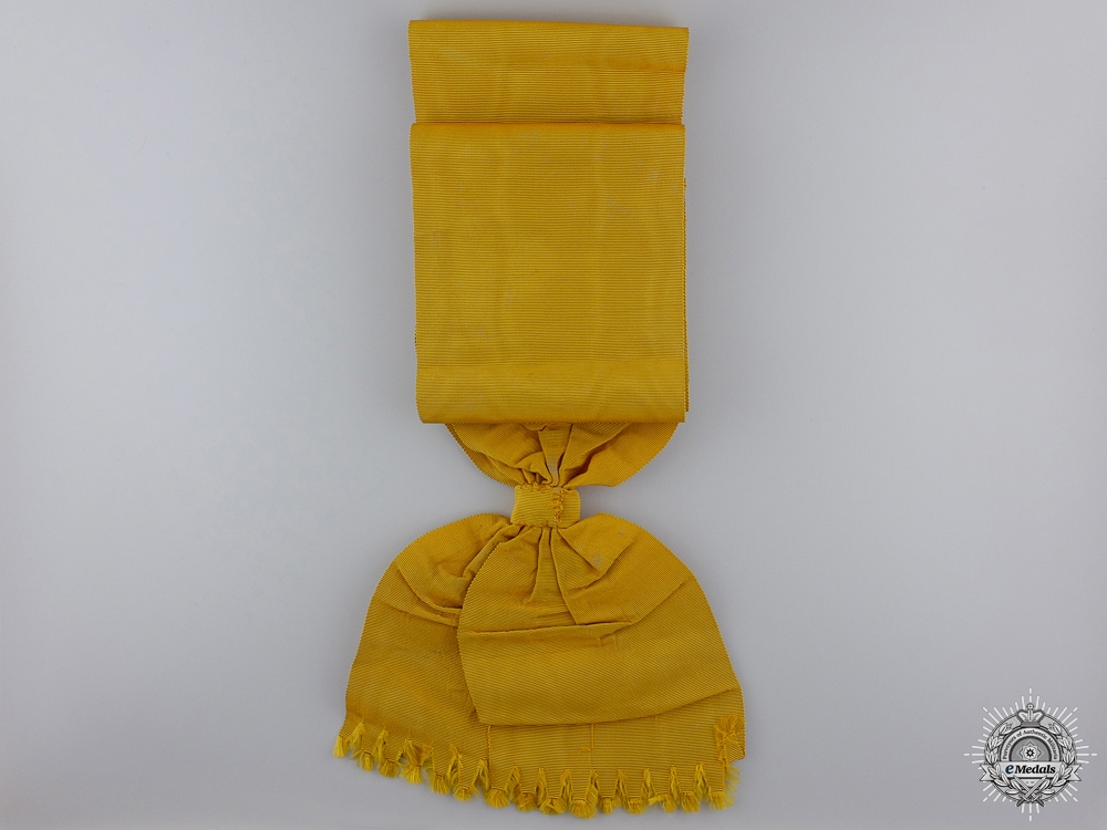 An Original Sash for the Prussian Order of the Black Eagle